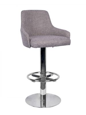Camden High Stool Keele Base Polished Steel