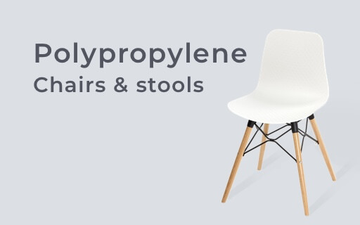 Polypropylene chairs and stools