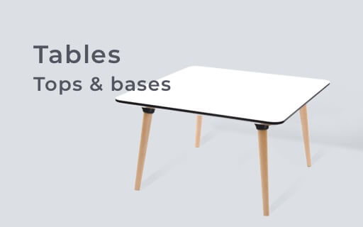 Table tops and bases
